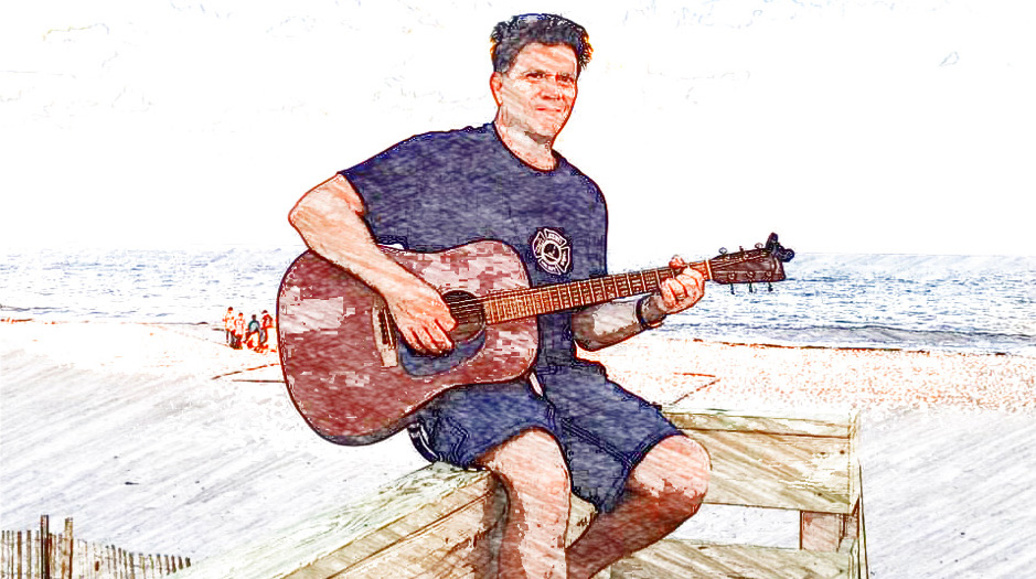 Chris St. John on the beach