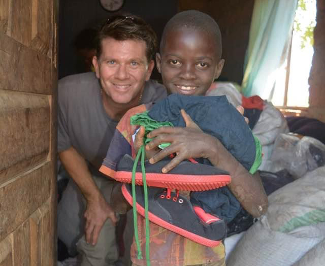 Chris doing mission work in Zambia.